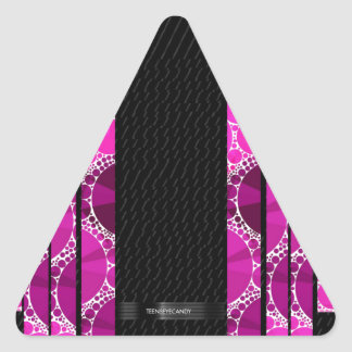 Pink Bling Unique Pattern Triangle Sticker