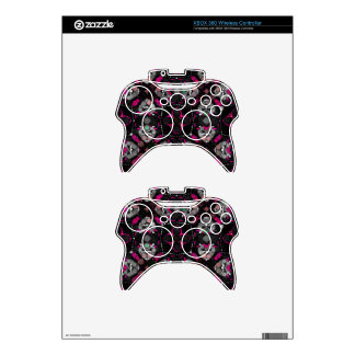 Pink Blk Girly Xbox 360 Controller Skin