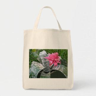 Pink Bloom Bromeliad Tote Bag