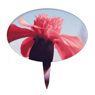 Pink bloom cake pick