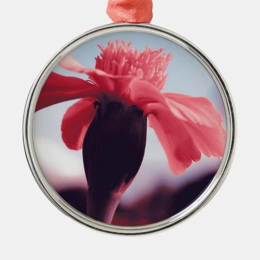 Pink bloom metal ornament