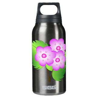 Pink blooming flowers insulated water bottle