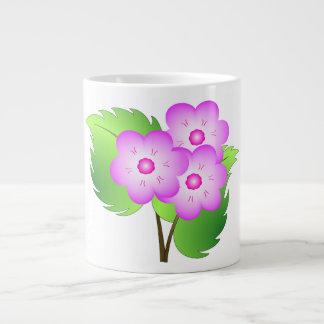 Pink blooming flowers large coffee mug