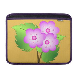 Pink blooming flowers MacBook sleeve
