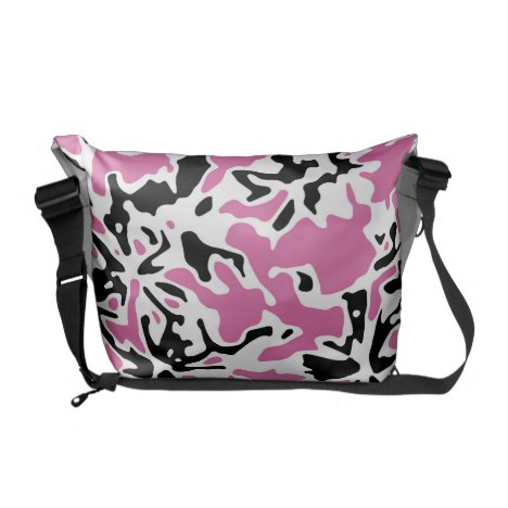 Pink Blooms Courier Bag