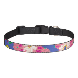 Pink Blooms Dog Collar