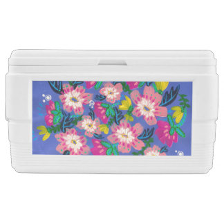 Pink Blooms Igloo 48 Quart Duo Deco Cooler