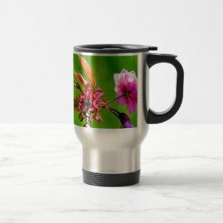 Pink blooms in spring travel mug
