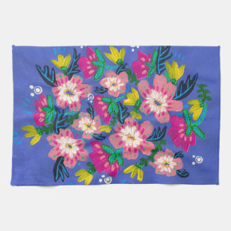 Pink Blooms Kitchen Towel