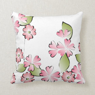 Pink Blooms Pillow