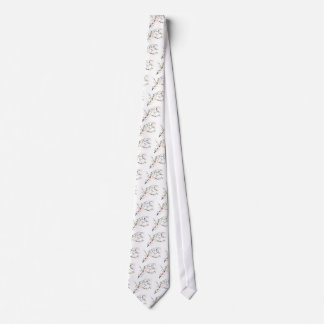 Pink Blossom Bird Tie