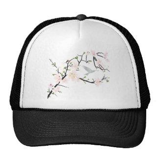 Pink Blossom Bird Trucker Hat