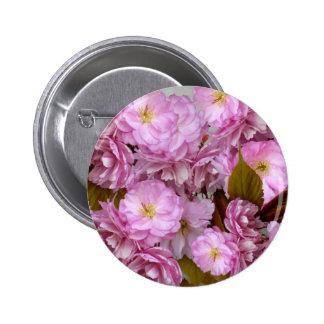 Pink Blossom Pinback Button