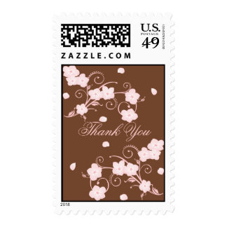 Pink Blossom Custom Thank You Postage