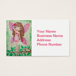 """Pink Blossom"" Fairy Business Card"