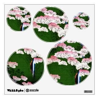 Pink Blossom (inspired by Utagawa Hiroshige) Wall Sticker