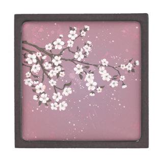 Pink blossom lavender jewelry box