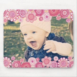 Pink Blossom New Baby Photo Frame Gift Mousepad