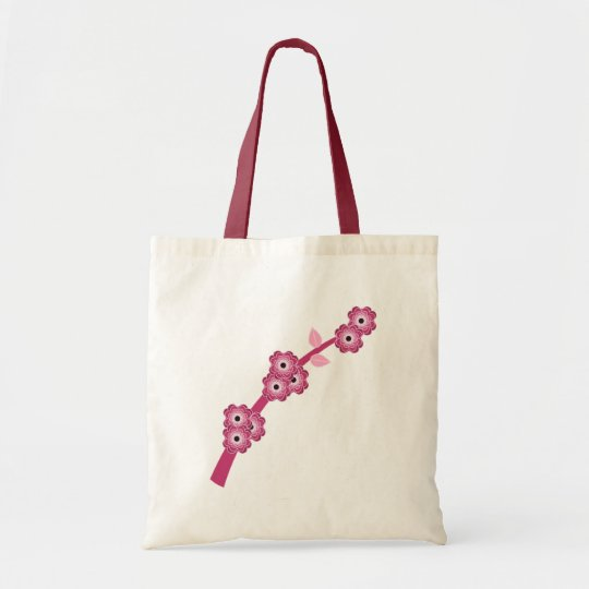 Pink Blossom Spray Tote Bag