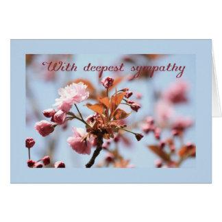 pink blossom sympathy card english