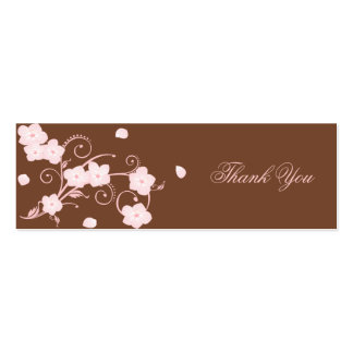 Pink Blossom Thank You Custom Card Double-Sided Mini Business Cards (Pack Of 20)