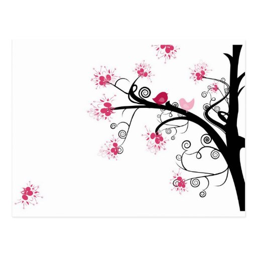 PINK BLOSSOM TREE POST CARDS