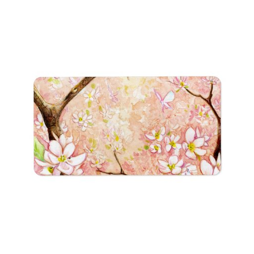Pink Blossom View Avery Label