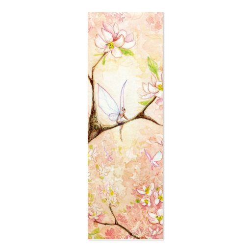 Pink Blossom View Bookmark Double-Sided Mini Business Cards (Pack Of 20)
