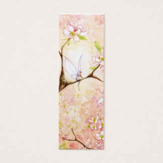 Pink Blossom View Bookmark Mini Business Card