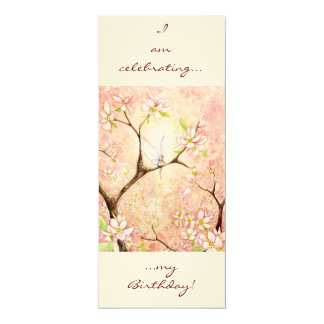 Pink Blossom View, 4x9.25 Paper Invitation Card