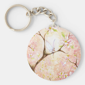 """""""Pink Blossom View"""" Keychain"""