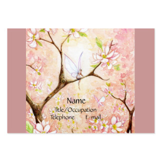 Pink Blossom View Large Business Card