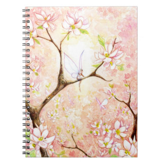 """Pink Blossom View"" Notebook"