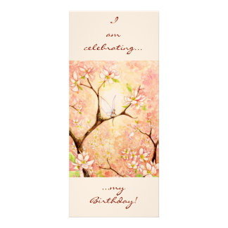 Pink Blossom View, Personalized Announcements