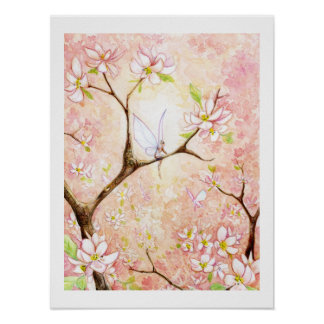Pink Blossom View Print