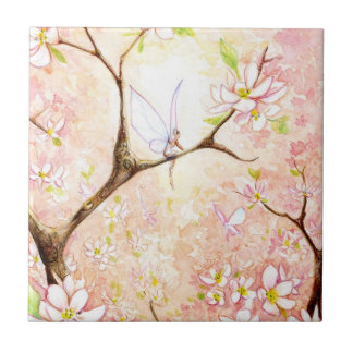 """""""Pink Blossom View"""" tile"""