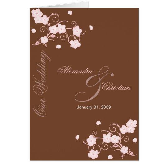 Pink Blossom Wedding Invitation Announcement