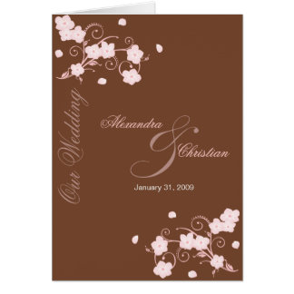 Pink Blossom Wedding Invitation Announcement Greeting Card