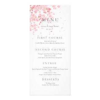 Pink Blossom Wedding Menu Card