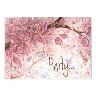 """Pink Blossom Wisps"" Invitation"