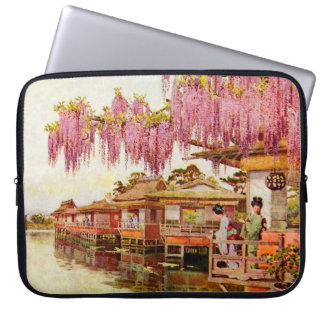 Pink Blossoms and Geishas Computer Sleeve
