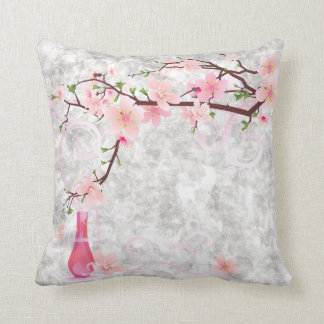 Pink Blossoms and Vase American MoJo Pill Pillows