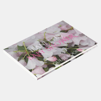 Pink Blossoms Girl Baby Shower Guest Book