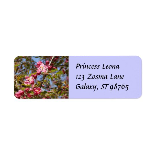 Pink Blossoms Label