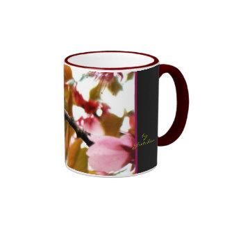 Pink Blossoms, Leaves, Stark Light 2 Coffee Mug