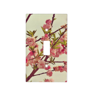 Pink Blossoms Light Switch Cover