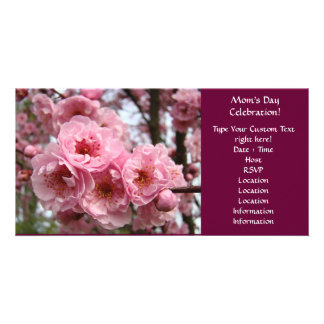 Pink Blossoms Mother's Day Celebration Party Photo Card