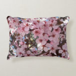 Pink Blossoms on Spring Flowering Tree Decorative Pillow