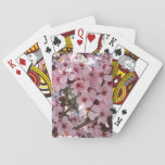 Pink Blossoms on Spring Flowering Tree Playing Cards