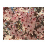 Pink Blossoms on Spring Flowering Tree Wood Wall Art